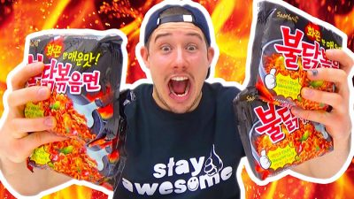 Super hete Korean Fire noodle challenge